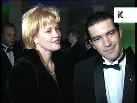 1995 Melanie Griffith and Antonio Banderas at Awards Ceremony