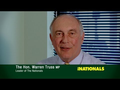 Nationals Leader Warren Truss makes final pitch to Regional Australia 1