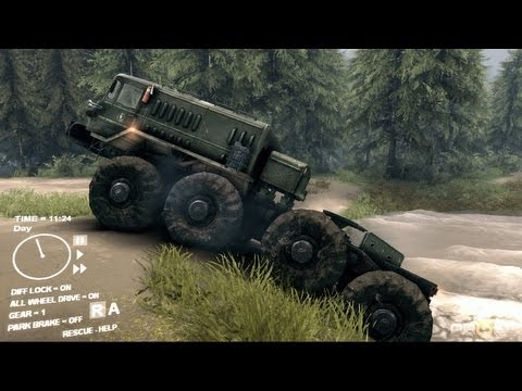 Spin Tires 2013 Demo - Driving the MAZ 535 Truck Part 2