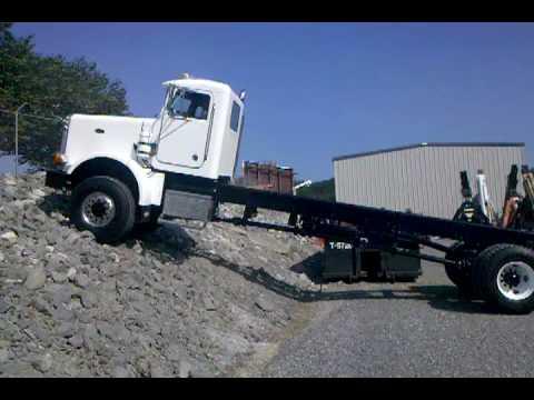 Trucks For Sale In Tn >> Peterbilt 357 6x6 (All-wheel drive) climbing rip rap rock bank - YouTube