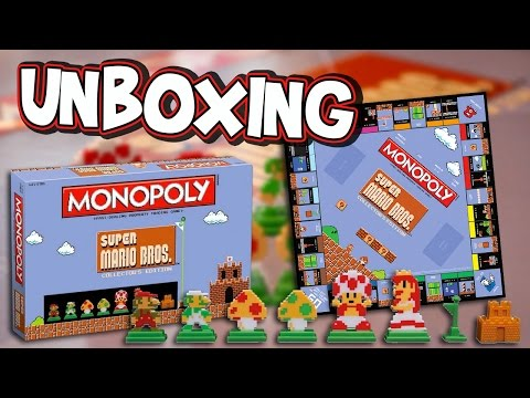 {Unboxing} Super Mario Bros. Monopoly Collector's Edition {Review}