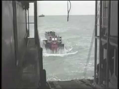ARKTOS Amphibious Craft History - 6 - Trial Evacuation From Parker Drilling Company's Rig 257
