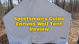 Sportsman's Guide wall tent review
