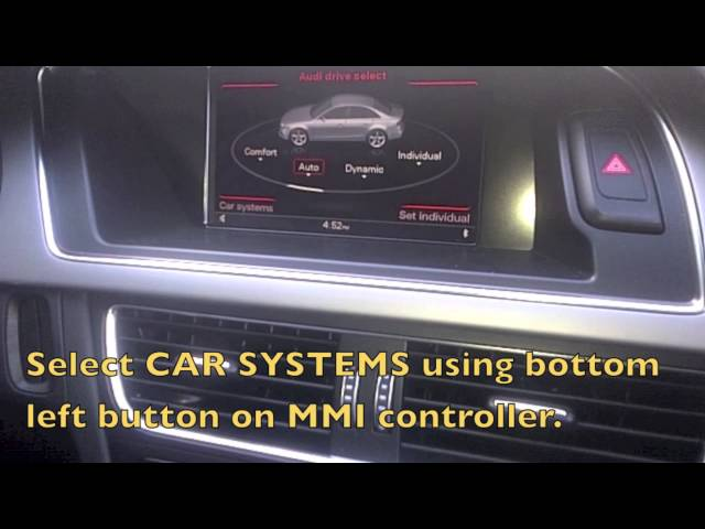 How to Reset the Oil Change Service Interval on 2013 Audi ...