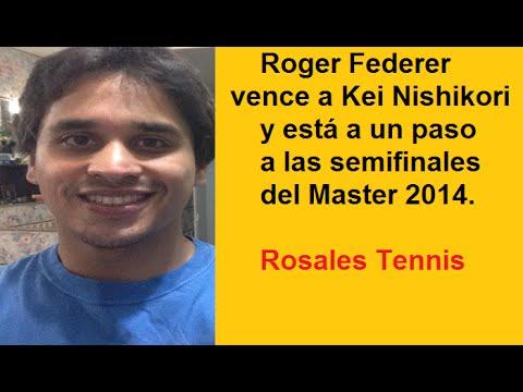 Roger Federer vence a Kei Nishikori Londres 2014