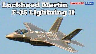 LARGE SCALE RC Lockheed Martin F-35 Lightning II turbine jet (DerJet prototype)
