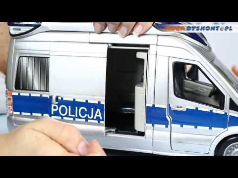 Emergency Van Duży Samochód Policyjny Dickie Toys www.MegaDyskont.pl