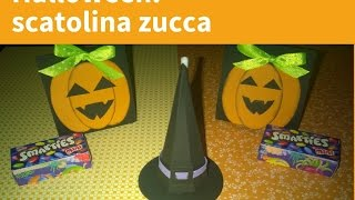 TUTORIAL SCATOLINA ZUCCA PER HALLOWEEN - HOW TO MAKE A PUMPKIN BOX DIY