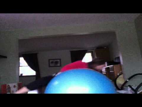 Haley and her Big Blue Ball
