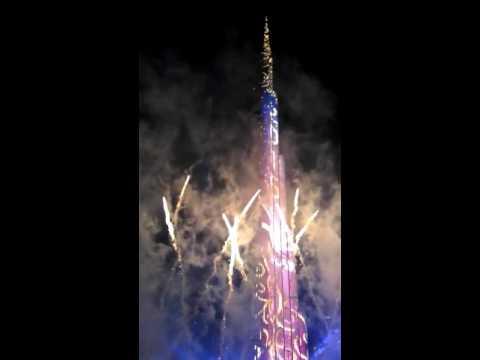New year night celebration in Dubai.