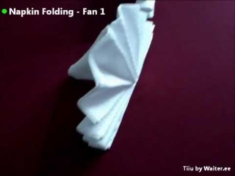 Hur man viker en solfjäder av en servett