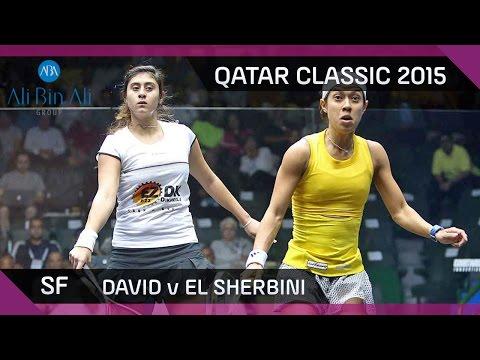 Squash: Qatar Classic 2015 - Women's SF Highlights: David v El Sherbini