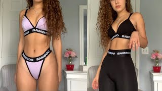 BAMBOO UNDERWEAR REVIEW AND TRY-ON HAUL| solange diaz