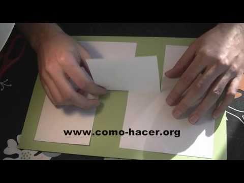 Experimentos caseros y trucos - Hoja de papel imposible