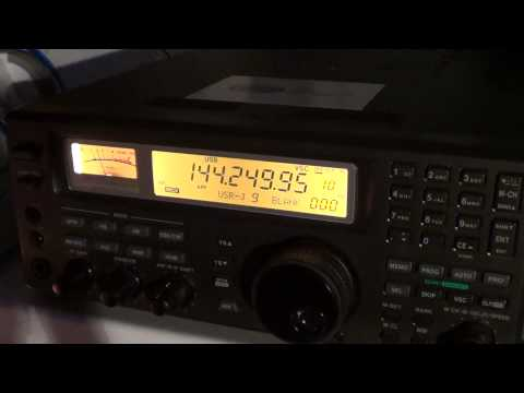 VE2MRC 2 meters VHF amateur radio net on Icom R8500