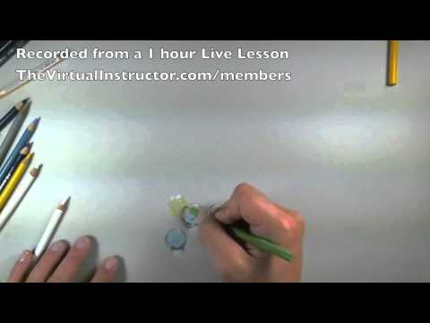 How to Draw Marbles with Colored Pencils - Tutorial Excerpts