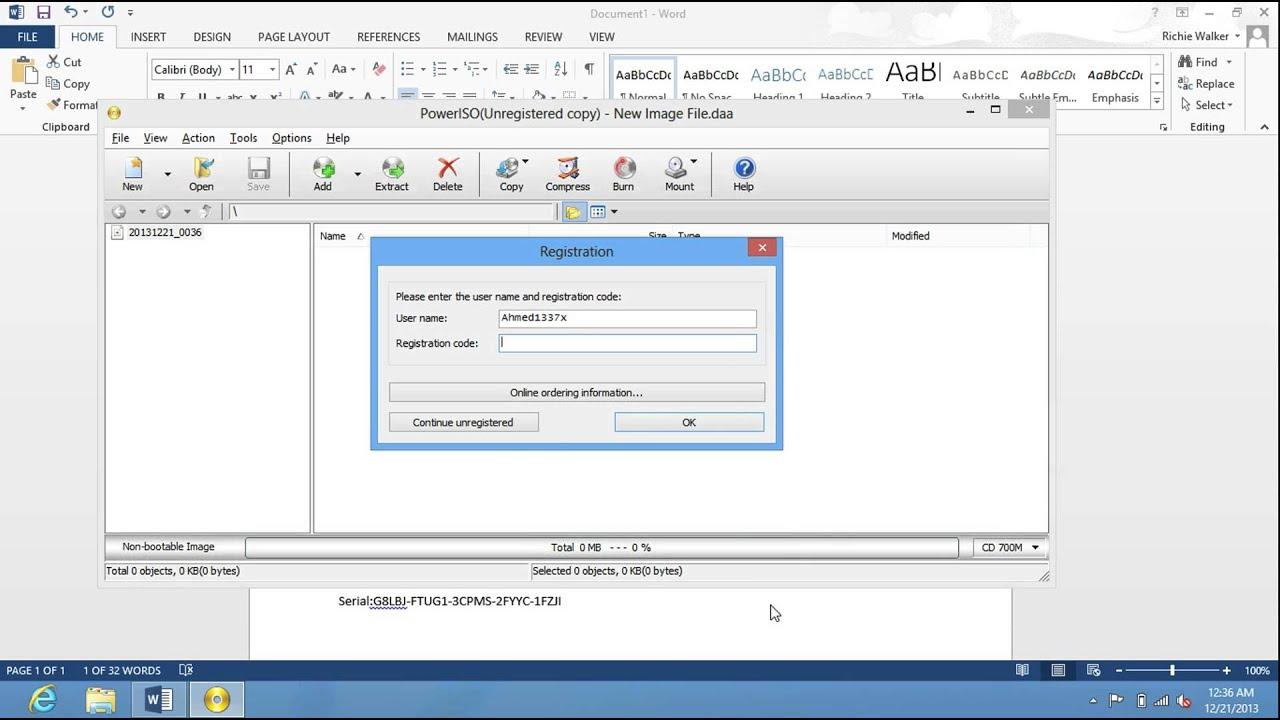 PowerISO v5.8 activation keys (Updated) (December 2013) HD ...