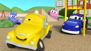 Let's play Hide And Seek with the Baby Cars in Car City ! - Cartoon for kids