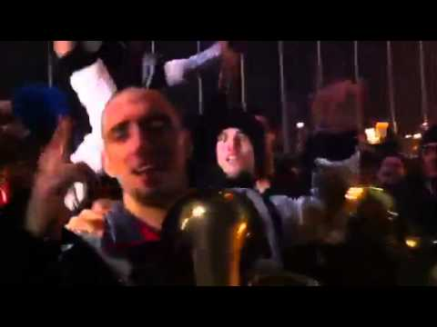 Davis Cup 2010 Champions Serbian Players Dancing and Singing outside the ...