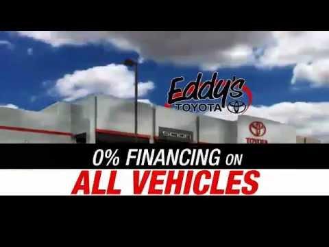 ZERO PERCENT ON ALL NEW & USED VEHICLES AT EDDY'S TOYOTA - WICHITA, KS CAR TRUCK FINANCING