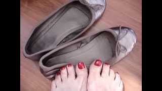 My Bronze Well Worn Ballerina Flats for toe and foot lovers