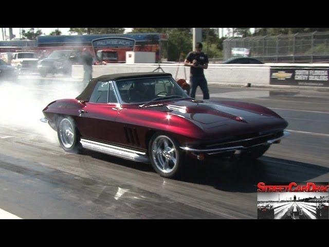 515 Cubic Inch 1965 Corvette - 1/4 mile Drag Race Video - 11.0 @ 128 mph - Street Car Drags