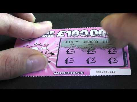£50,000 Winning LOTTERY Scratch Card - CAUGHT ON TAPE !!!