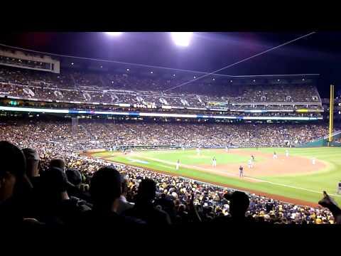 2013 Pirates vs Reds Wildcard Game PNC Park.  Marlon Byrd RBI.