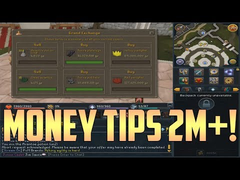 Runescape: 2 Simple Money Making Tips! – 2M+ Per Hour