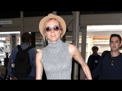 Diane Kruger Looks Darling Heading To Cannes From LAX