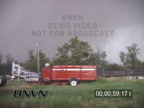 6/9/2003 Storm Chasers Hit By O'Neill Nebraska, Tornado Stock Video