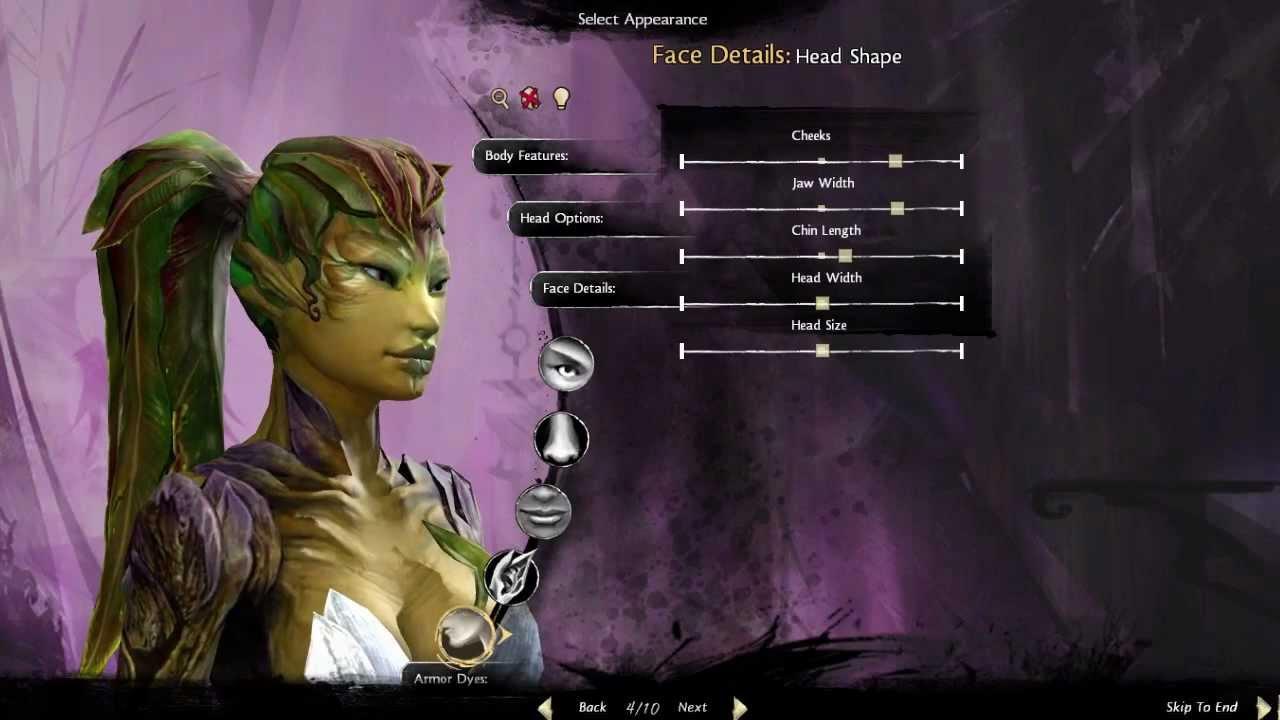Guild Wars 2 Character Creator Sylvari Female Youtube
