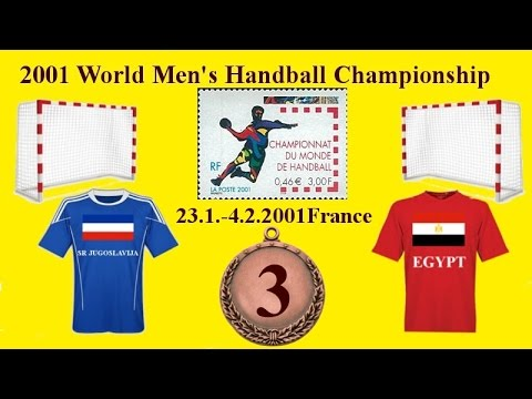 Handball third place Jugoslavija - Egypt Paris Bercy France 2001  ex yu ex ju sport كرة يد