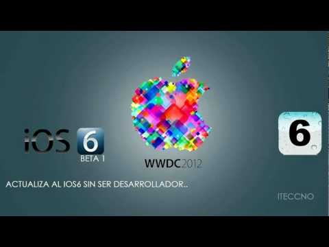Instalar IOS6 Sin Ser Desarrollador iphone 3gs 4 4s // ipod touch // ipad