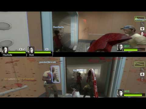 Left 4 Dead 2: Splitscreen Gameplay [2 Ps2 Controllers] HD 720p