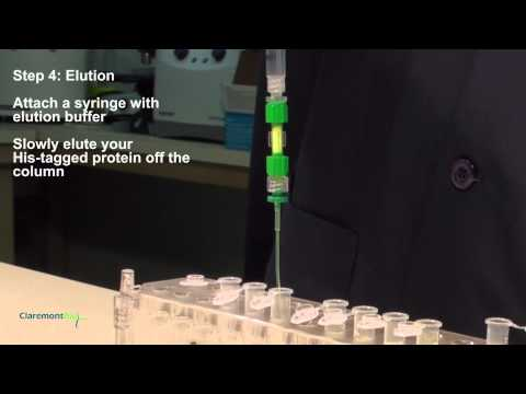 His-tagged protein purification in 3 minutes - ClaremontBio - HisExpress Column.