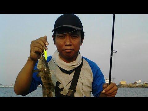 Ultralight Fishing: Lagi Asyik Strike,ketemu Master Wahyu Arisandi Di Pantai Cipta Semarang.