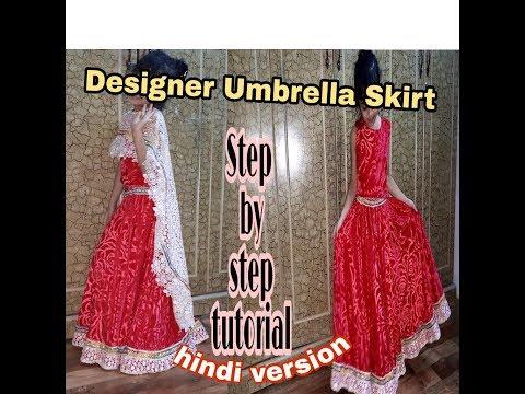 Very beautiful Designer Umbrella skirt (Complete tutorial)