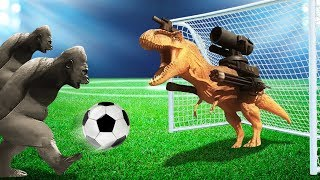 FOOTBALL WITH DEADLY ANIMALS! (Beast Battle Simulator #3)