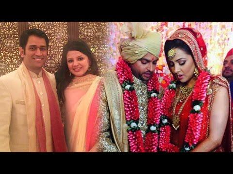 Mahendra Singh Dhoni With Wife Sakshi Attend Suresh Raina's Wedding