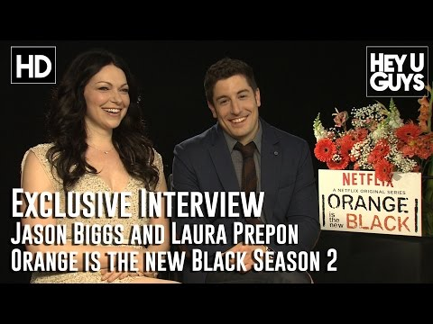 Jason Biggs and Laura Prepon Exclusive Interview - Orange is the New Black Season 2
