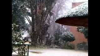 Snow in Johannesburg 2012 - a rare and  beautiful sight
