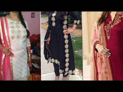 Trendy Aari/zari/teela/dubka work suits design