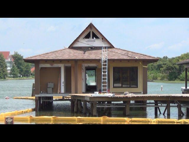 Disney's Polynesian Resort POV Construction Update Including Lobby, DVC Villas, Grounds, Concept Art