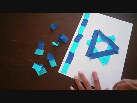 דגל ישראל מנייר קרפ