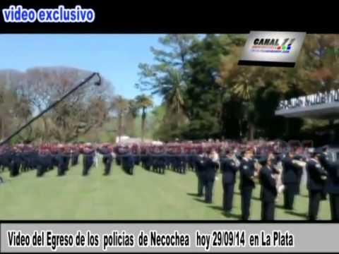 Video del Egreso de los  policias  de Necochea   hoy 29 09 14  en La Plata