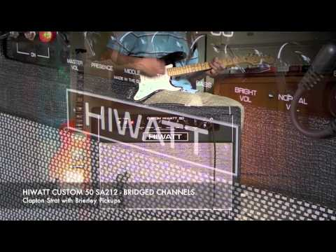 HIWATT Custom 50 SA212: Normal, Bright, Bridged and Effects demo (Strat).