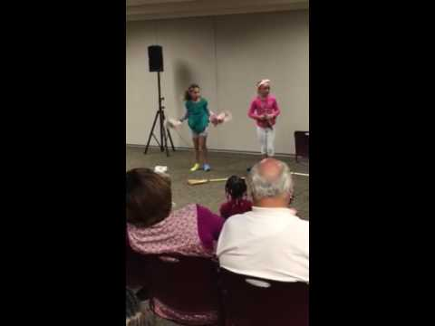 Calla and Tessa upper Dublin talent show 2016