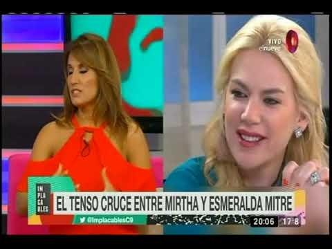 El tenso cruce entre Mirtha Legrand y Esmeralda Mitre