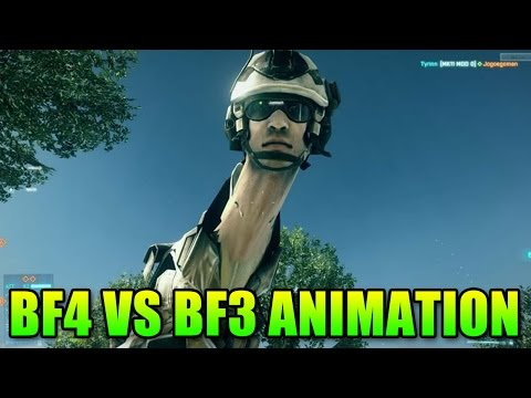 BF3 vs BF4 Soldier Soldier Animation, Big Difference!